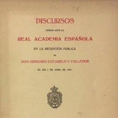 Libros antiguos: COTARELO VALLEDOR: PAYO GOMEZ CHARIÑO, ALMIRANTE Y POETA. 1929 (GALICIA, PONTEVEDRA, TROVADOR. Lote 68545159