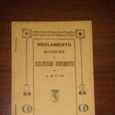 Libros antiguos: REGLAMENTO PARA EL SERVICIO INTERIOR DEL EXCELENTISIMO AYUNTAMIENTO DE LEON. 1925. . Lote 67952109