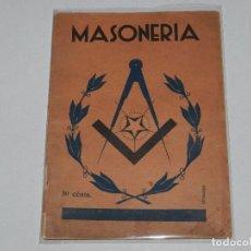Alte Bücher - (M) MASONERIA - LIBRO DE MASONERIA - EDT IBERICA, MADRID 193..... , 46 PAG, 22 X 16 CM, - 67968001