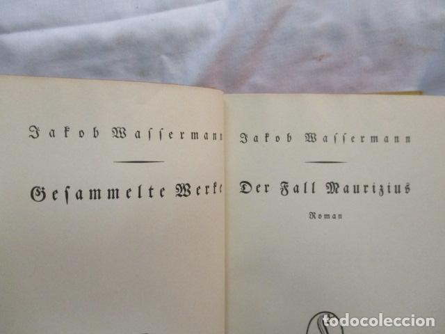 Libros antiguos: Der Fall Maurizius. Roman. 1. bis 25. Auflage. (Alemán) Tapa dura – 1928 de Jakob Wassermann - Foto 6 - 67984725