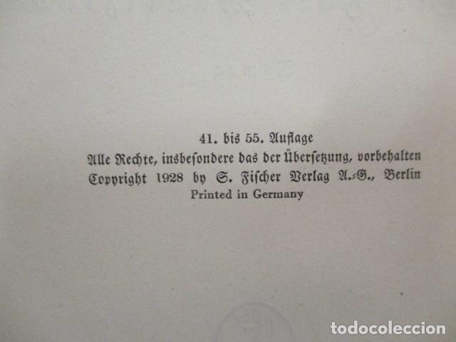 Libros antiguos: Der Fall Maurizius. Roman. 1. bis 25. Auflage. (Alemán) Tapa dura – 1928 de Jakob Wassermann - Foto 8 - 67984725