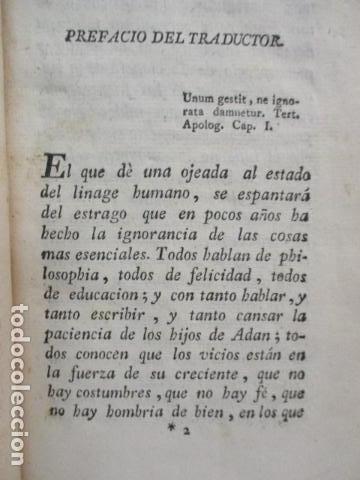 Libros antiguos: PENSAMIENTOS DE PASCAL SOBRE LA RELIGION, ANDRES BOGGIERO.ZARAGOZA 1790 - Foto 9 - 67996141