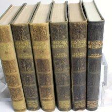 Libros antiguos: L-4121. HISTORIA DE ESPAÑA . INSTITUTO GALLACH. BARCELONA 1934. 6 TOMOS. COMPLETA.. Lote 68045653
