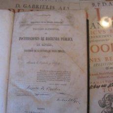 Libros antiguos: -TRATADO ELEMENTAL DE INSTITUCIONES DE HACIENDA PÚBLICA DE ESPAÑA, RAMÓN DE ESPÌNOLA, 1859.. Lote 68115505