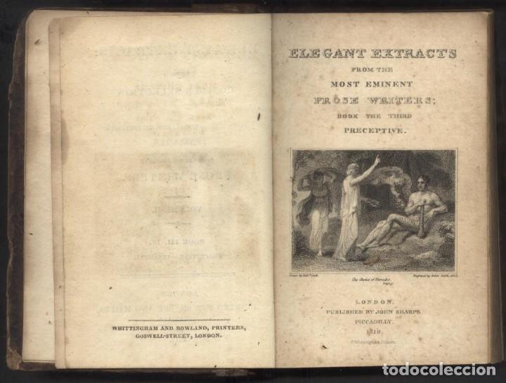 Libros antiguos: ELEGANTES ESTRACTOS DE LOS MAS EMINENTES ESCRITORES DE LA PROSA - PRECEPTIVE. AÑO 1812 - Foto 2 - 68335153