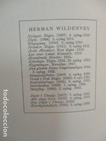 Libros antiguos: Finken Av Tistler - Herman Wildenvey - ( En Noruego) - año 1925 - ver fotos - Foto 6 - 68391833