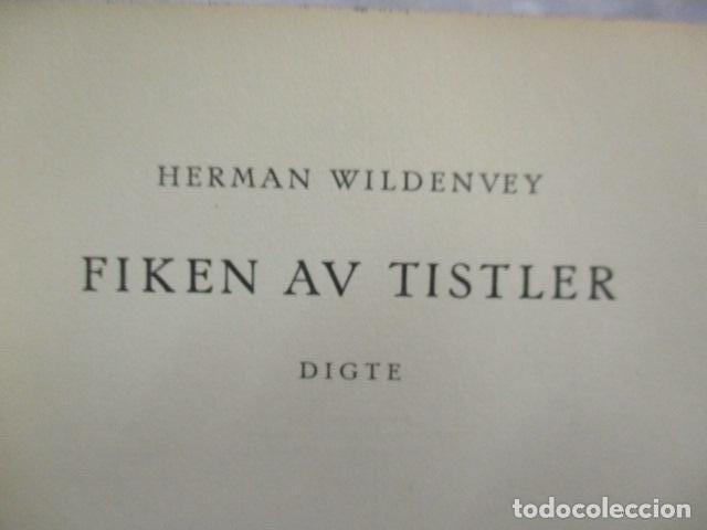 Libros antiguos: Finken Av Tistler - Herman Wildenvey - ( En Noruego) - año 1925 - ver fotos - Foto 7 - 68391833