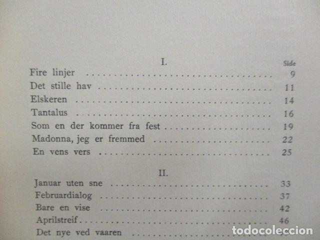 Libros antiguos: Finken Av Tistler - Herman Wildenvey - ( En Noruego) - año 1925 - ver fotos - Foto 10 - 68391833