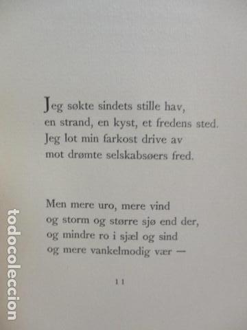 Libros antiguos: Finken Av Tistler - Herman Wildenvey - ( En Noruego) - año 1925 - ver fotos - Foto 13 - 68391833