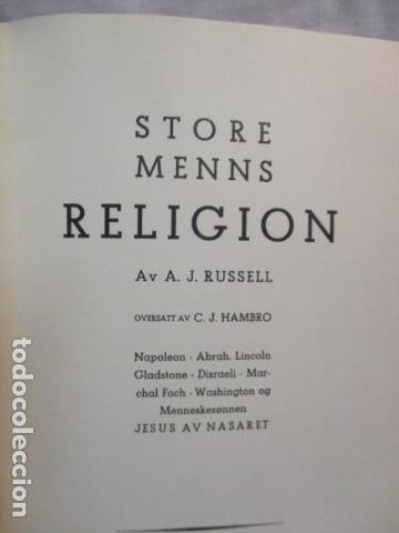 Libros antiguos: Store Menns Religion - A. J. Russell - (en ingles) año 1935 - Foto 4 - 68395733