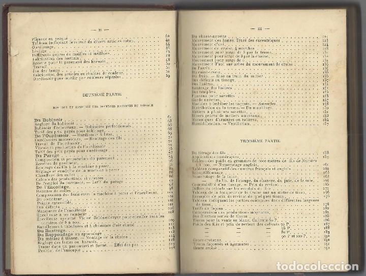 Libros antiguos: TISSAGE MECANIQUE, VICTOR SHULUMBERGER Y PAUL DUPONT, PARÍS, 1900 ? EN FRANCES - Foto 4 - 68414621