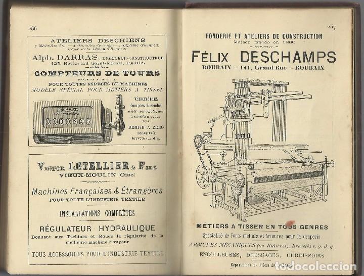 Libros antiguos: TISSAGE MECANIQUE, VICTOR SHULUMBERGER Y PAUL DUPONT, PARÍS, 1900 ? EN FRANCES - Foto 7 - 68414621