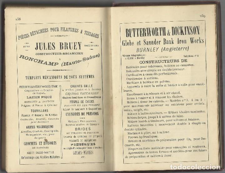 Libros antiguos: TISSAGE MECANIQUE, VICTOR SHULUMBERGER Y PAUL DUPONT, PARÍS, 1900 ? EN FRANCES - Foto 8 - 68414621