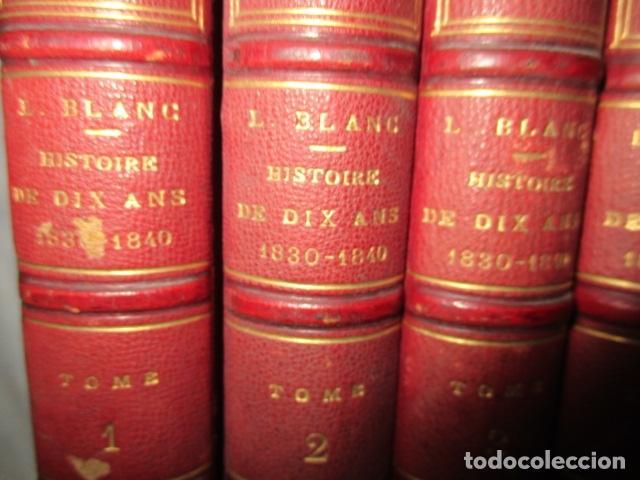 Libros antiguos: Histoire de dix ans: 1830-1840. 5 Tomos (Francés) Tapas duras – aprx. 1880 - de Louis Blanc - Ver - Foto 3 - 68417329