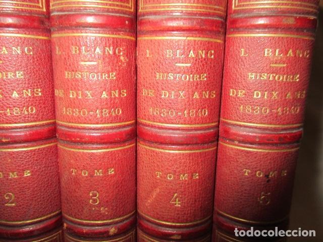 Libros antiguos: Histoire de dix ans: 1830-1840. 5 Tomos (Francés) Tapas duras – aprx. 1880 - de Louis Blanc - Ver - Foto 4 - 68417329
