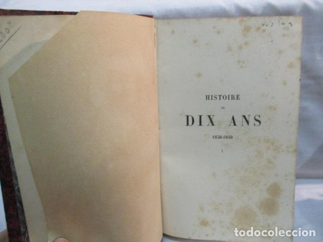 Libros antiguos: Histoire de dix ans: 1830-1840. 5 Tomos (Francés) Tapas duras – aprx. 1880 - de Louis Blanc - Ver - Foto 8 - 68417329