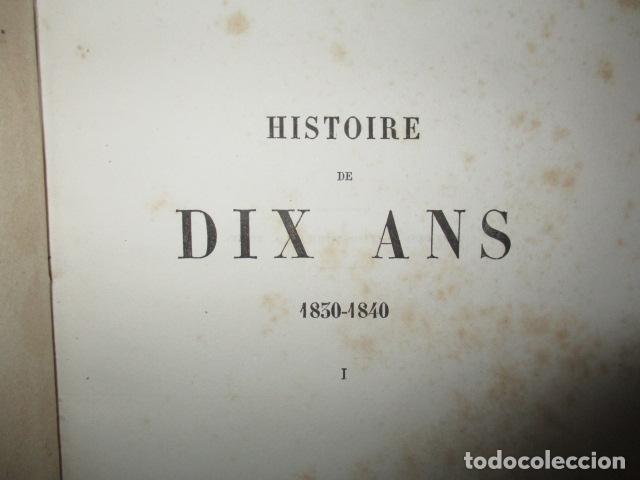 Libros antiguos: Histoire de dix ans: 1830-1840. 5 Tomos (Francés) Tapas duras – aprx. 1880 - de Louis Blanc - Ver - Foto 9 - 68417329