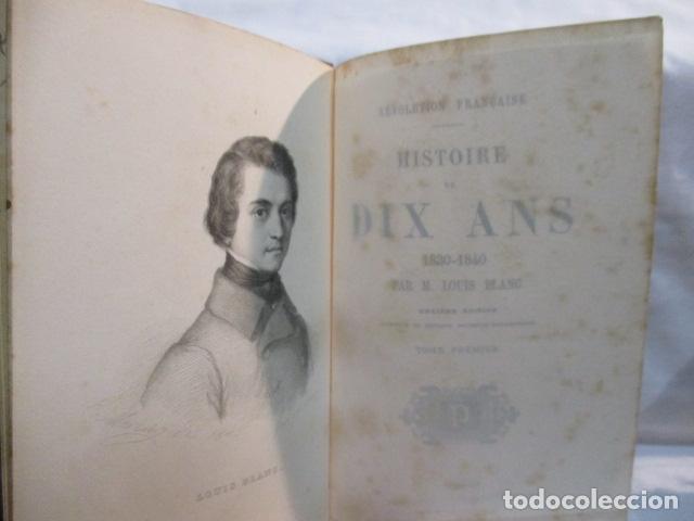 Libros antiguos: Histoire de dix ans: 1830-1840. 5 Tomos (Francés) Tapas duras – aprx. 1880 - de Louis Blanc - Ver - Foto 10 - 68417329