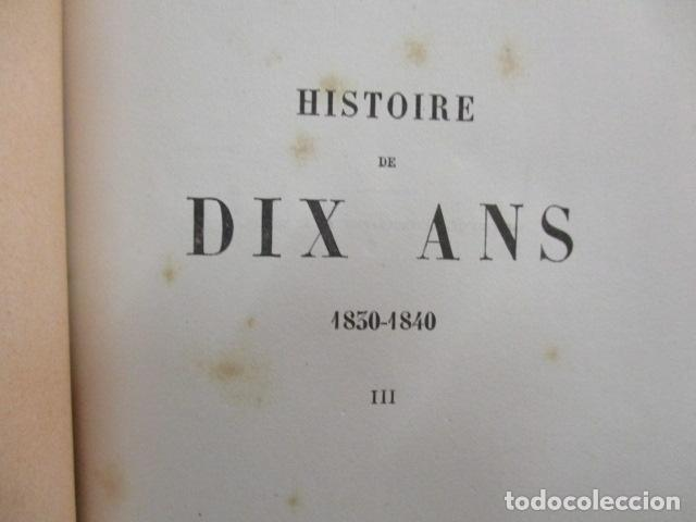 Libros antiguos: Histoire de dix ans: 1830-1840. 5 Tomos (Francés) Tapas duras – aprx. 1880 - de Louis Blanc - Ver - Foto 43 - 68417329