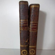 Libros antiguos: DOS TOMOS INSTITUTIONES JURIS CANONICI AÑO 1796.. Lote 68454577