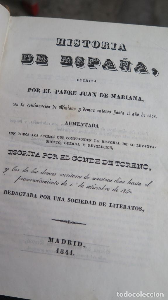 Libros antiguos: 1841.- HISTORIA DE ESPAÑA. JUAN DE MARIANA. 9 TOMOS - Foto 2 - 68502605