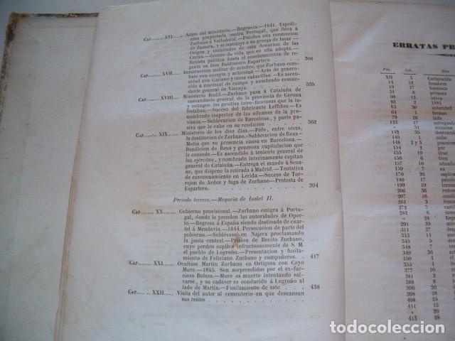 Libros antiguos: EDUARDO CHAO. Historia de la vida militar y política de Martín Zurbano. RM77714. - Foto 5 - 68563001
