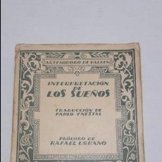 Libros antiguos: INTERPRETACION DE LOS SUEÑOS. Lote 68477029