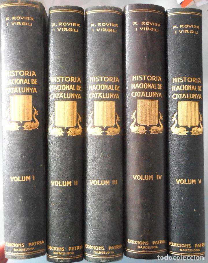 TOMOS DEL I AL V DE HISTORIA NACIONAL DE CATALUNYA - ANTONI ROVIRA VIRGILI - AÑO 1922 (Libros Antiguos, Raros y Curiosos - Historia - Otros)