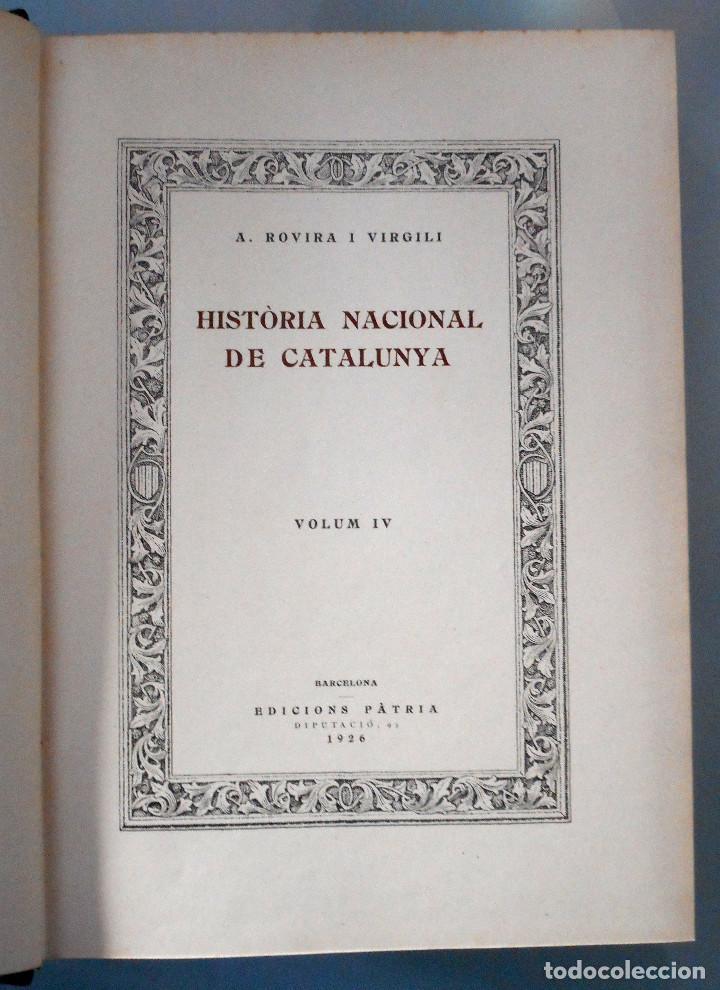 Libros antiguos: TOMOS DEL I AL V DE HISTORIA NACIONAL DE CATALUNYA - ANTONI ROVIRA VIRGILI - AÑO 1922 - Foto 22 - 68631649