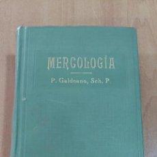 Libri antichi: MERCOLOGIA. P GALDEANO. IMP ELZEVIRIANA LIB CAMI. 1923. Lote 68686405