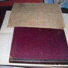 Libros antiguos: 1859 E. ESP. DE ARQUITECTURA BARCELONA MANUSCRITO PROGRAMA DE ASIGNATURA TOPOGRAFIA Y CONSTRUCCIONI. Lote 68724501