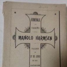 Libros antiguos: HOMENAJE DE CARIÑO MANOLO HARMSEN. Lote 68848817