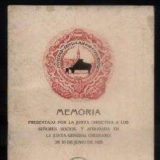 Libros antiguos: MEMORIA 1925. SOCIEDAD SEVILLANA DE CONCIERTOS. A-LSEV-1254. Lote 68860353