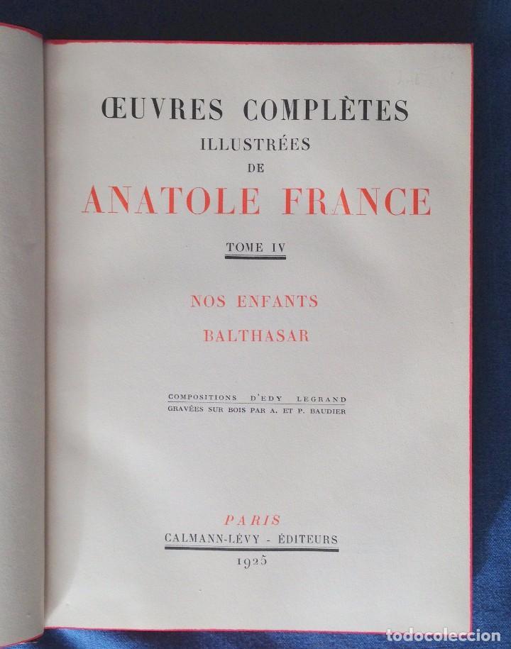 Libros antiguos: ANATOLE FRANCE. NOS ENFANTS, BALTHASAR. PARÍS 1925 - Foto 2 - 69049929