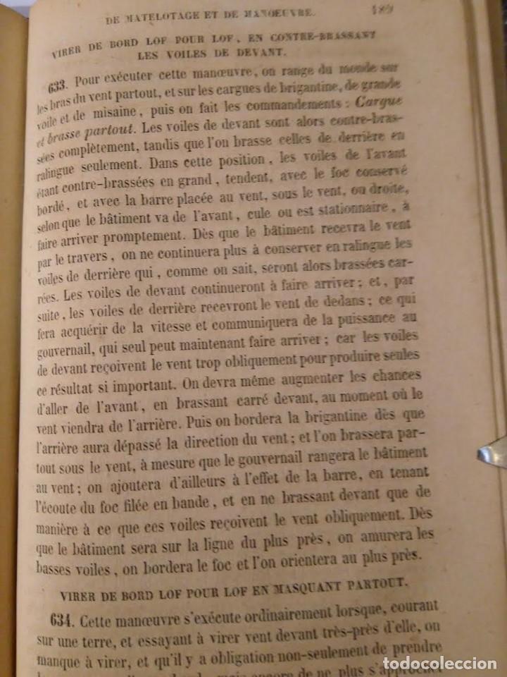 Libros antiguos: Dubreuil, P-J. Manuel de matelotage et de manoeuvre. Aparejo y Maniobra Veleros, 1857 - Foto 3 - 69226777