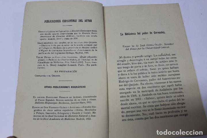 Libros antiguos: L- 4280. EL AUTOR DEL QUIJOTE, ANTECEDENTES DE UN GENIO. JOSE GOMEZ OCAÑA. 1914. - Foto 2 - 69241149
