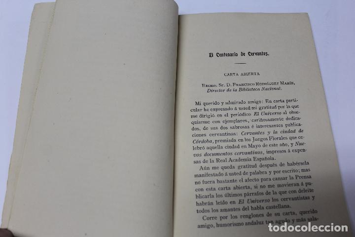 Libros antiguos: L- 4280. EL AUTOR DEL QUIJOTE, ANTECEDENTES DE UN GENIO. JOSE GOMEZ OCAÑA. 1914. - Foto 3 - 69241149