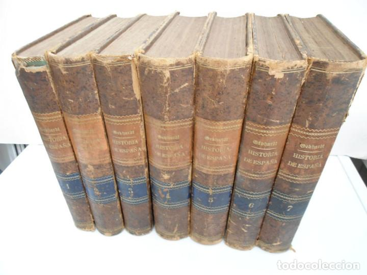 HISTORIA GENERAL DE ESPAÑA Y DE SUS INDIAS - D. VICTOR GEBHARDT - LUIS TASSO 1864 - 7 TOMOS COMPLETA (Libros Antiguos, Raros y Curiosos - Historia - Otros)