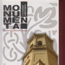 Libros antiguos: MONUMENTA ANUARIO DE PATRIMONIO CULTURAL JUAN DE DIOS LEAL 448 PAGINAS VALENCIA 2008 LT69B. Lote 69357989