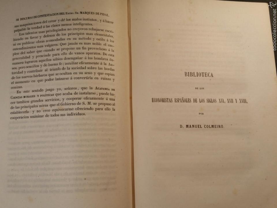Libros antiguos: MEMORIAS DE LA REAL ACADEMIA DE CIENCIAS MORALES Y POLÍTICAS 1861 - Foto 3 - 69359054