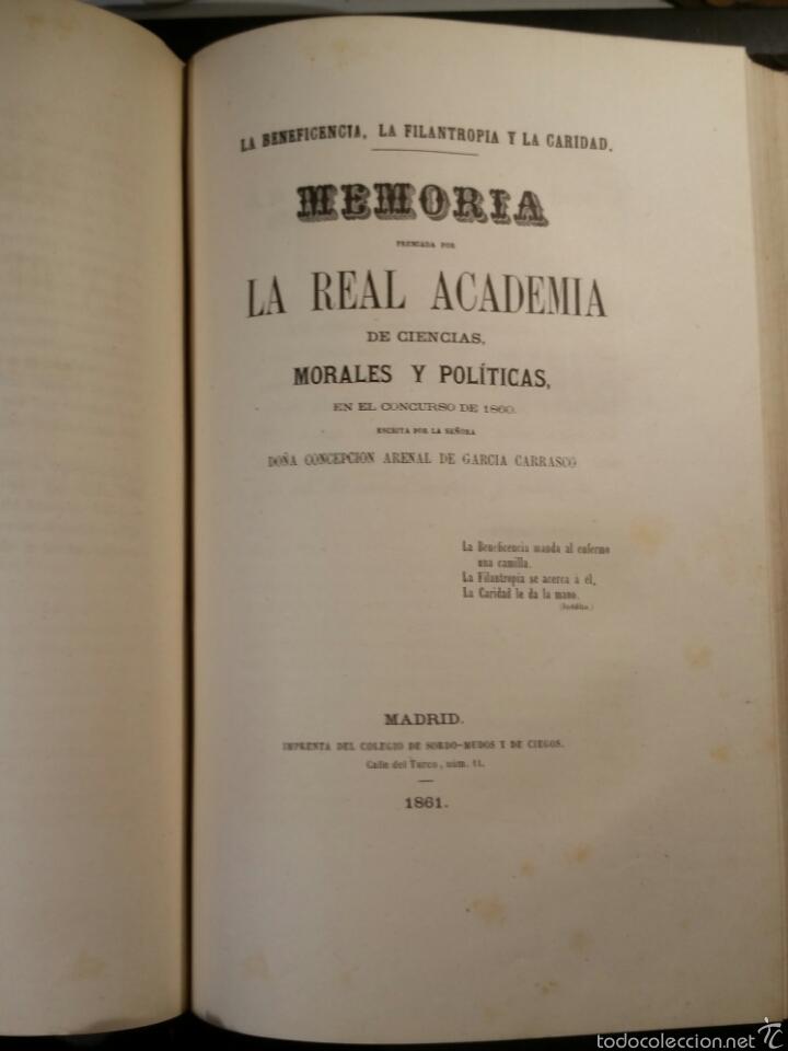 Libros antiguos: MEMORIAS DE LA REAL ACADEMIA DE CIENCIAS MORALES Y POLÍTICAS 1861 - Foto 6 - 69359054
