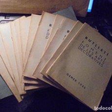 Libros antiguos: ARTE - REVISTA COMPLETA RUSTICA , BUTLLETI DEL FOMENT DE LES ARTS DECORATIVES 1935 - Nº1 AL Nº 12 . Lote 69618917
