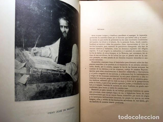 MADRAZO : ELOGIO DEL P. FRAY JOSÉ DE SIGUENZA. (REAL ACADEMIA DE LA HISTORIA, 1897 (Libros Antiguos, Raros y Curiosos - Historia - Otros)