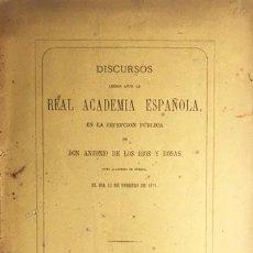 Libros antiguos: RIOS Y ROSAS : EL PRINCIPIO DE AUTORIDAD EN EL ORDEN LITERARIO (1871. R ACADEMIA. Lote 69659229