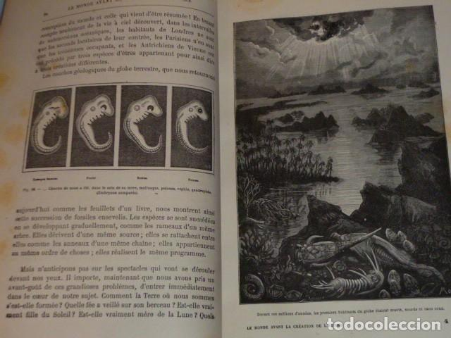 Libros antiguos: LE MONDE AVANT LA CRÉATION DE L´HOMME (1886) - Foto 4 - 69679745