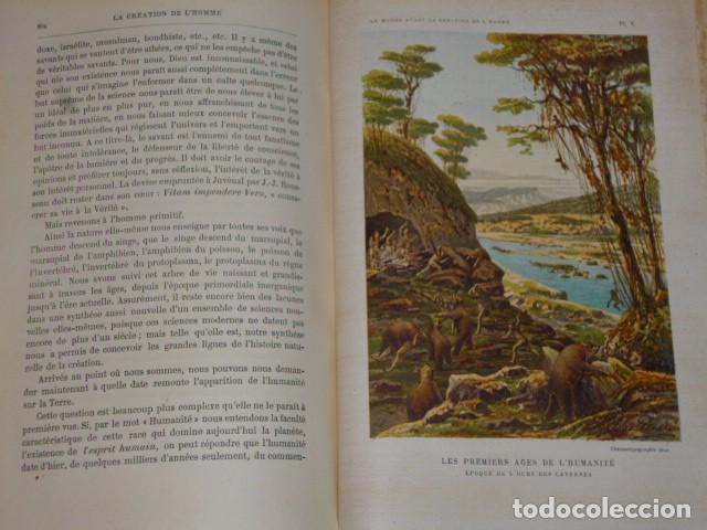 Libros antiguos: LE MONDE AVANT LA CRÉATION DE L´HOMME (1886) - Foto 10 - 69679745