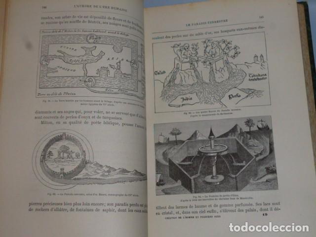 Libros antiguos: LA CRÉATION DE L´HOMME ET LES PREMIERS ÂGES DE L´HUMANITÉ.(1887) - Foto 4 - 69681241