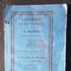 Libros antiguos: PORVENIR DE LA MUJERES J CZINSKI 1841 UNA PALABRA A LAS ESPAÑOLAS IMPRENTA DE VIUDA DE COMES CÁDIZ. Lote 95740884