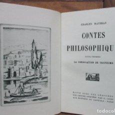 Libros antiguos: CONTES PHILOSOPHIQUES. CHARLES MAURRAS. 1928. 3 VOL. GRABADOS DE G. GOOR.. Lote 69942033