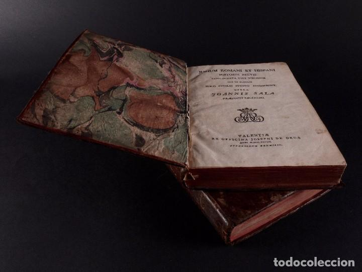 Libros antiguos: SALA INSTITUTIO ROMANO 2 TOMOS 1798 - Foto 2 - 69986953